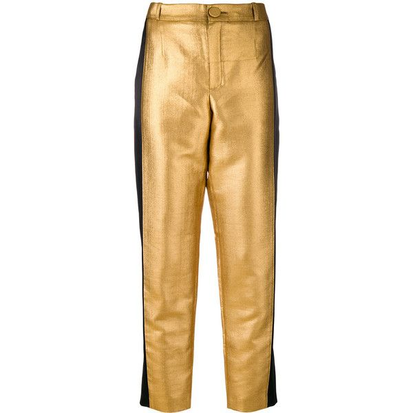 straight leg trousers - Metallic Lanvin yhl19H