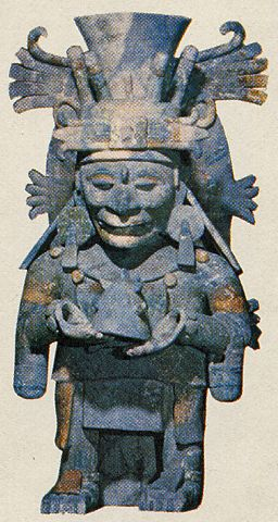 God Quetzalcoatl, also refered to as Itzamna God, found at Mayapan, Yucatan Peninsula.