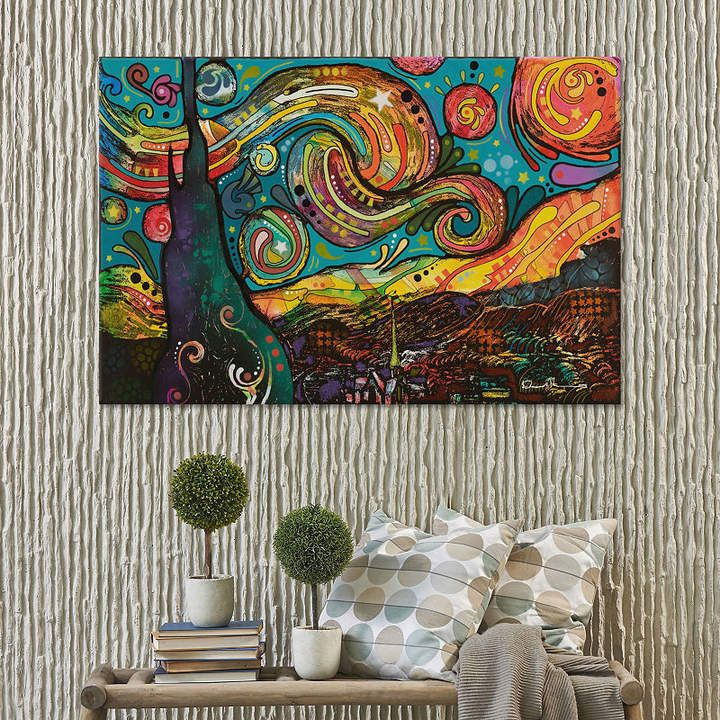 icanvas icanvas starry night canvas art ad i could on icanvas wall art id=86463