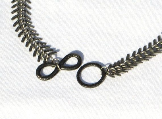 Museologique's Serpentine necklace. $40. Both elegant and edgy, its made from a single strand of herringbone patterned chain.