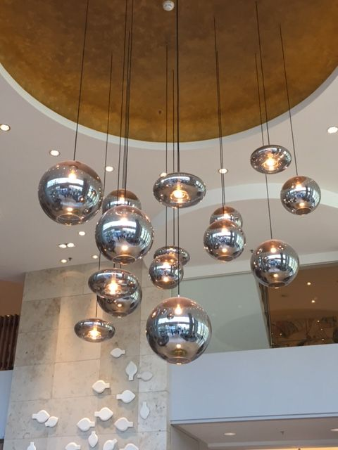 Maxi eve bulbs in het Marriott Hotel, Rotterdam Styled by HIP Studio.