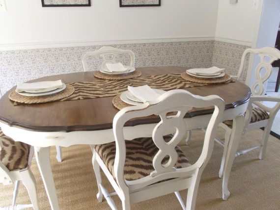 Vintage French Provincial Dining Room Table And Chairs Con