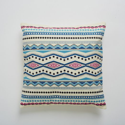 Embroidered Mar Pillow Cover | west elm