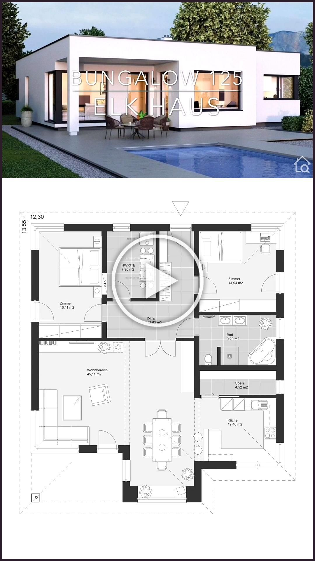 Bungalow House Plans One Story Modern Architecture Design 038 Dream Home Ideas W Bungalow House Plans Dream House Exterior Modern Architecture Design