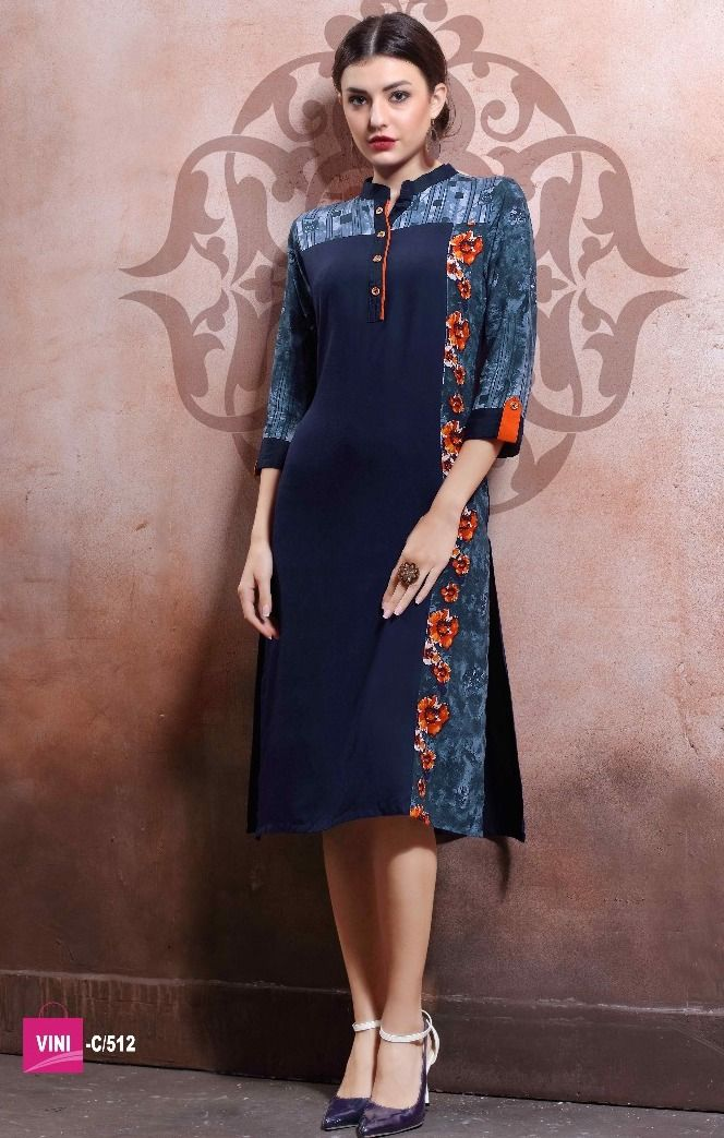 Grace Plus Rayon Cotton Print+Lenon Kurtis (12 pc catalog ...