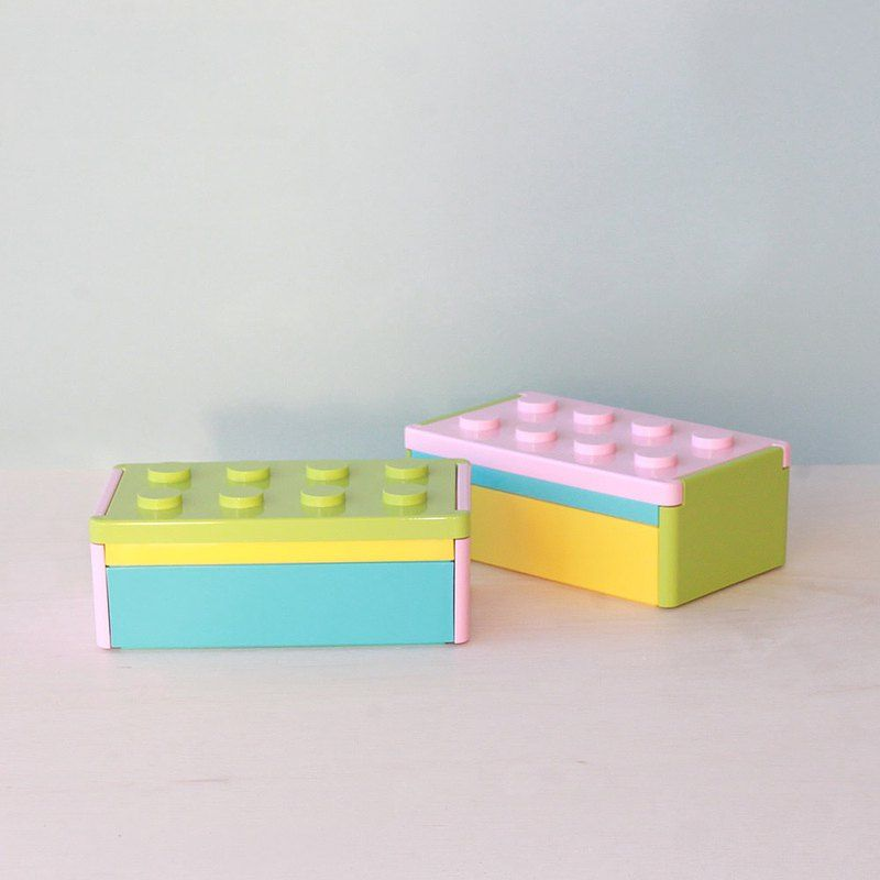 Block 1 Storage Clipping Lunchbox Box Container Kids Gift School Made In Japan Padou Lunch Boxes Pinkoi 2021 お弁当箱 お弁当 アイデア 弁当