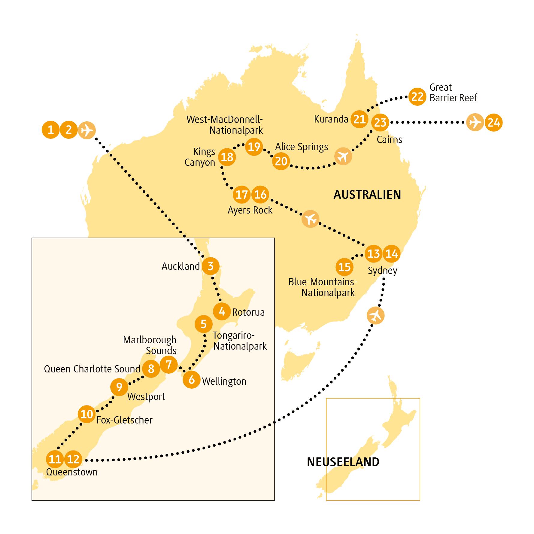 Chamaleon Reise Ozeanien Nach Australien Und Neuseeland 24 Tage Neuseeland Australien Great Barrier Reef