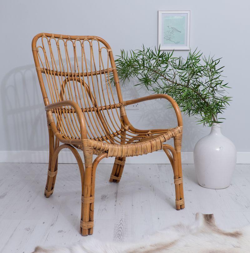 Wicker Lounger Chair