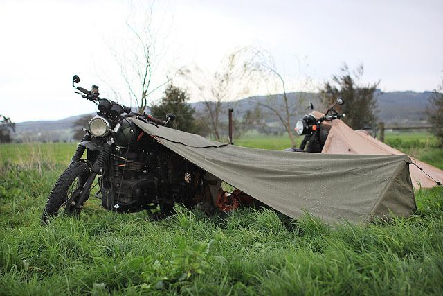 Gear Review - Exposed Motorcycle Bivouac & Gear Review - Exposed Motorcycle Bivouac via returnofthecaferacers ...