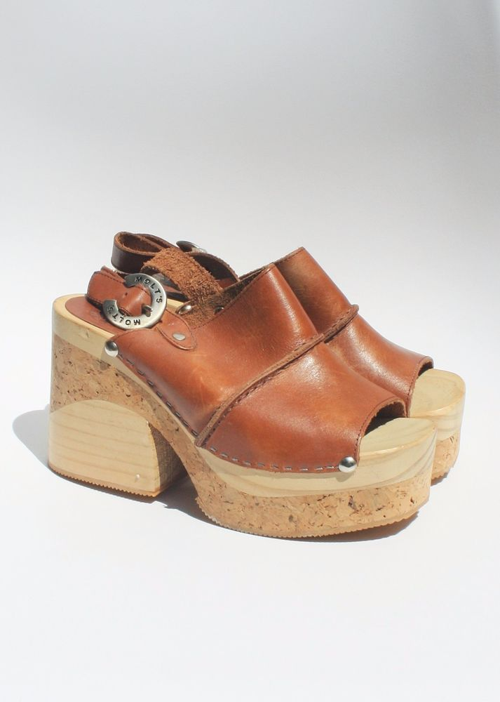 435e646fb88d MOLT S CLOGS 5 Spain Cork Wooden Heels Platform Sandals 70 s Boho Hippie  Shoes  MOLTS  PlatformsWedges  Any