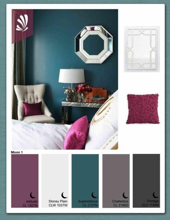 Die 47 Farben Wände Ideen Laden Sie In Manchmal Mutige Und Knallige Und  Manchmal Beruhigende Räumlichkeiten Ein.Die Roten Tönen Werden Mit Blau  Kombiniert.