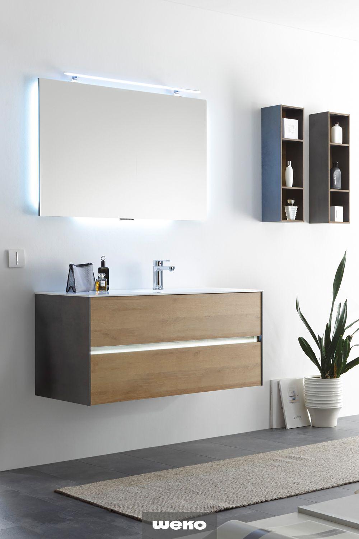 Waschplatz Inkl Led Effektlicht Usb Anschluss Badezimmer Badezimmer Einrichtung Spiegelschrank
