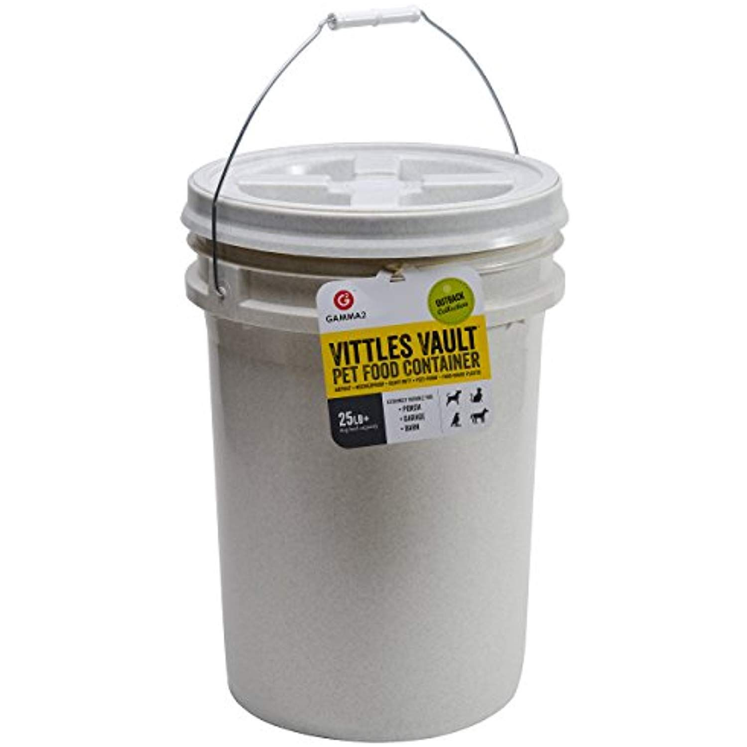 Gamma2 Vittles Vault 25 Lb Airtight Bucket Container For Food Storage Food Grade And Bpa Pet Food Storage Container Pet Food Storage Airtight Pet Food Storage
