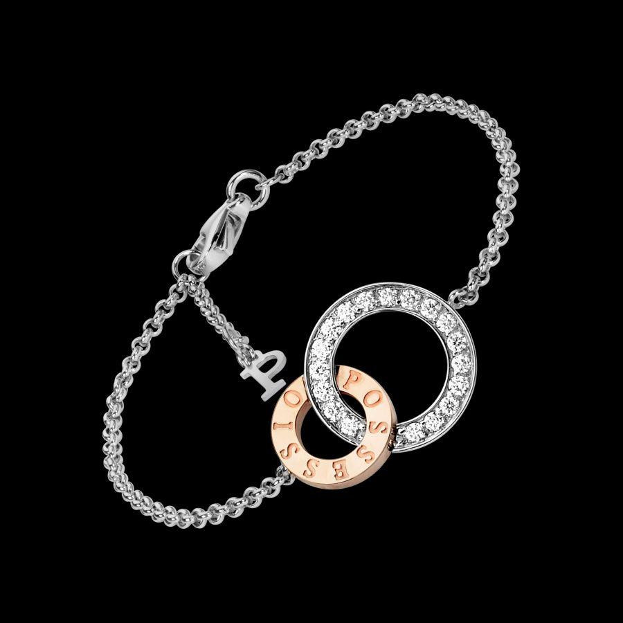 bracelet piaget possession or blanc