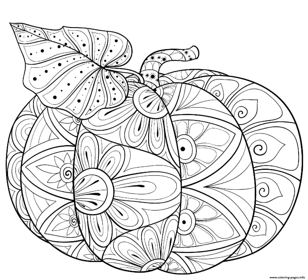 Print Halloween Intricate Pumpkin And Leaf Coloring Pages Mandala Coloring Pages Leaf Coloring Page Halloween Coloring Pages