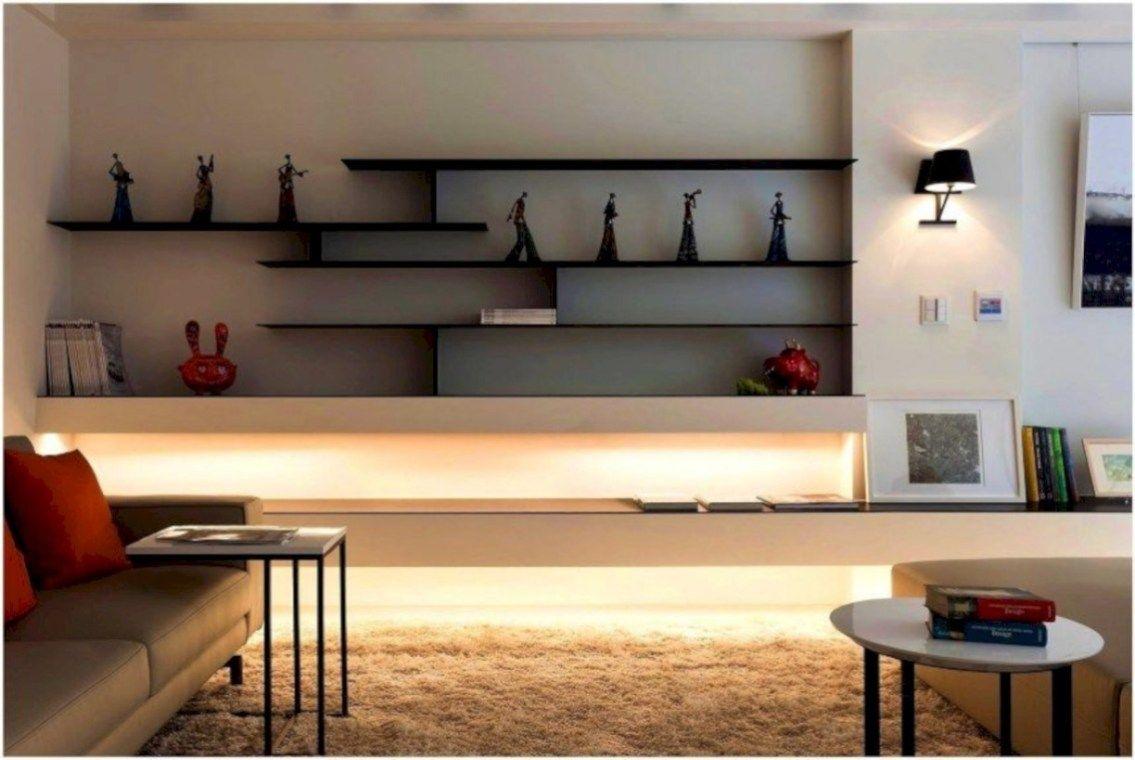 43 Creative Diy Floating Shelves Living Room Decorating Decoration