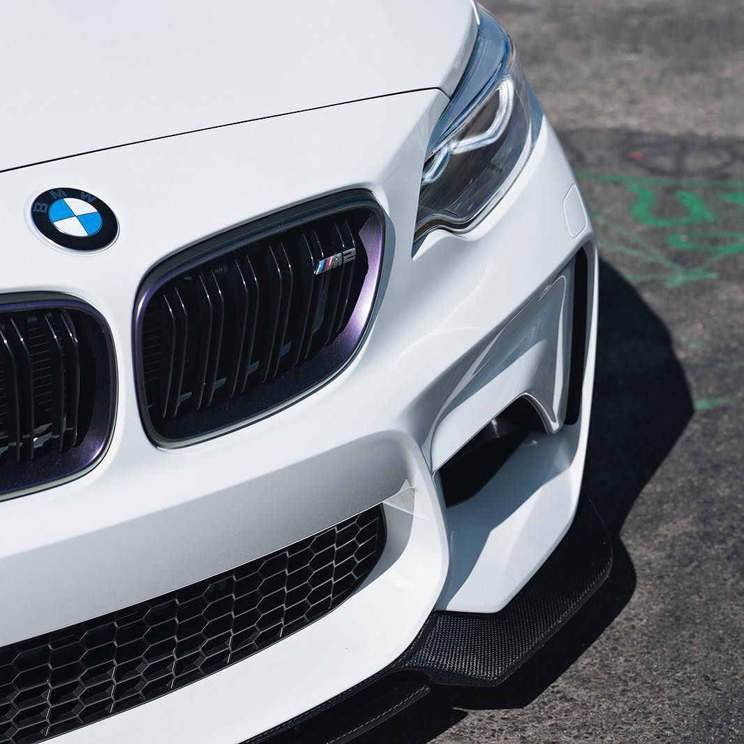 Bmwfort Package Includes: Alpine White BMW M2 Showing Off The @vorsteiner VRS Front