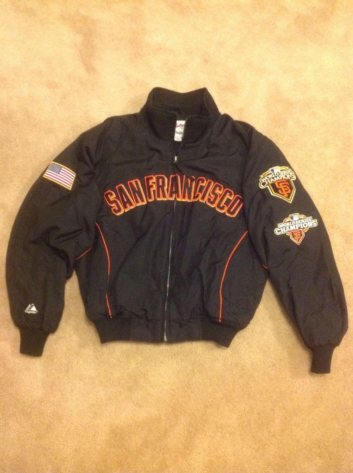 factory price ba96c f4b28 San Francisco SF Giants Majestic Jacket Small Rare Hard to ...