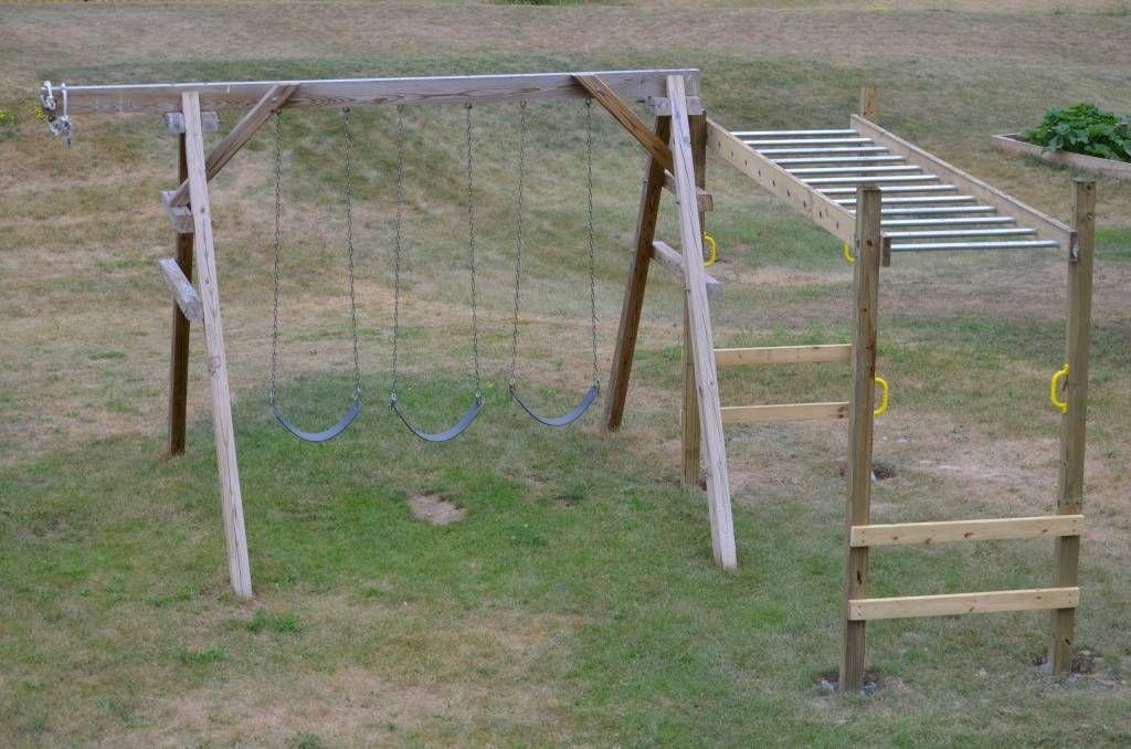 Tips On Embedding Posts For Playground Doityourself Com Community Forums Kids Backyard Playground Diy Monkey Bars Backyard Playground