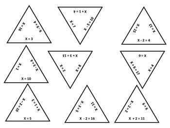 One-step Linear Equations Puzzling Pyramids Game in 2020