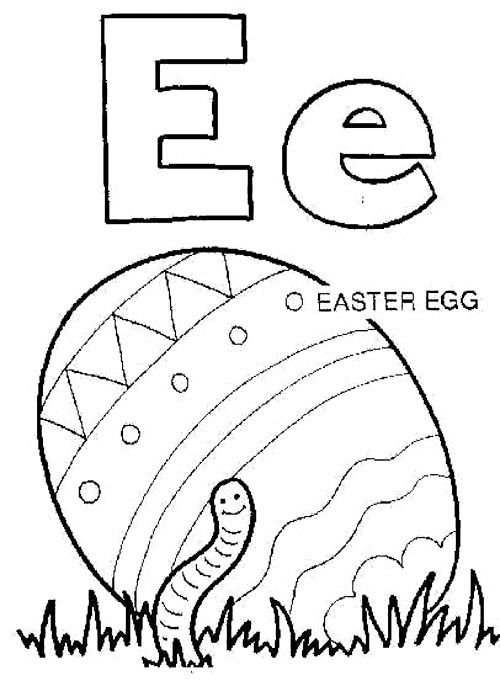 E For Easter Egg Coloring Pages Kids Rhpinterest: Easter Alphabet Coloring Pages At Baymontmadison.com