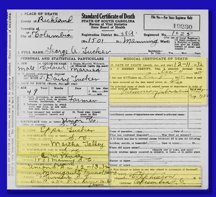 part 2: what can you glean from a death certificate?:// ...