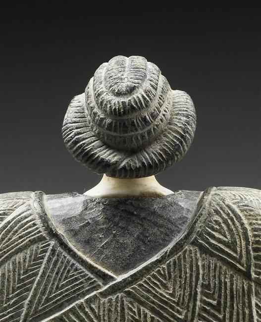 Princesse de Bactriane, Détail : tête vue de dos. 3e millénaire av J.-C. | Bactriane.