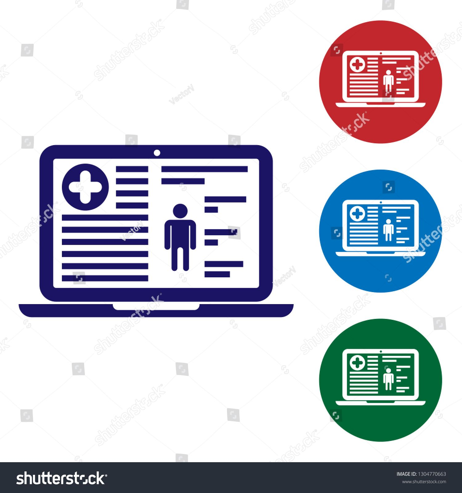 Blue Medical Clinical Record On Screen Of Laptop Icon Isolated On White Background Health Insurance Form Docum Clinic Health Insurance Health Insurance Plans