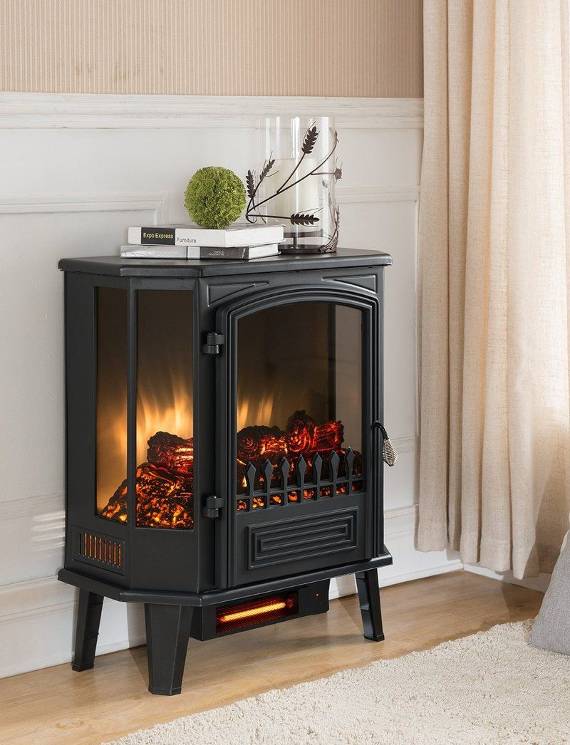 Bold Flame Pruna Five Side Panoramic Electric Stove With Remote Control Free Standing Electric Fireplace Electric Fireplace Electric Fireplace Heater