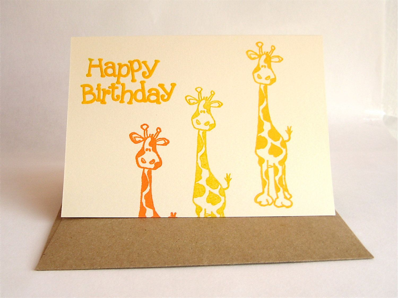 Giraffe Birthday Card Inside Hope It S Wild By