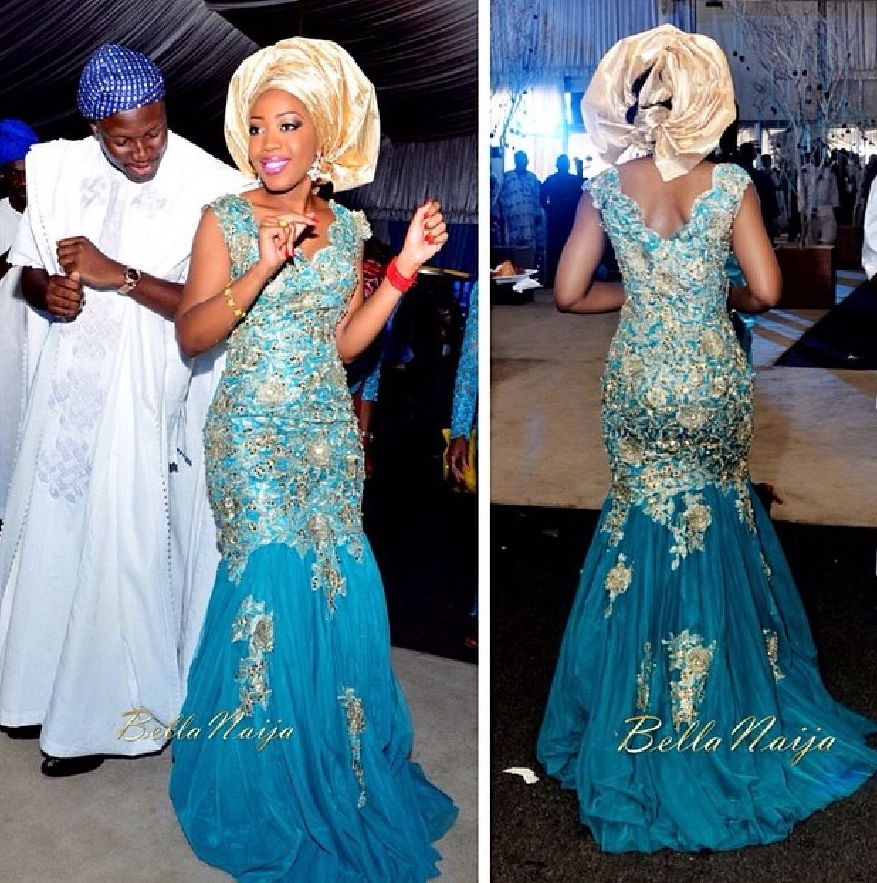 Nigeria wedding - two piece (royal blue) | w. dreamsss | Pinterest