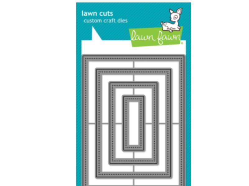 Lawn Fawn small dotted rectangle stackables lawn cuts