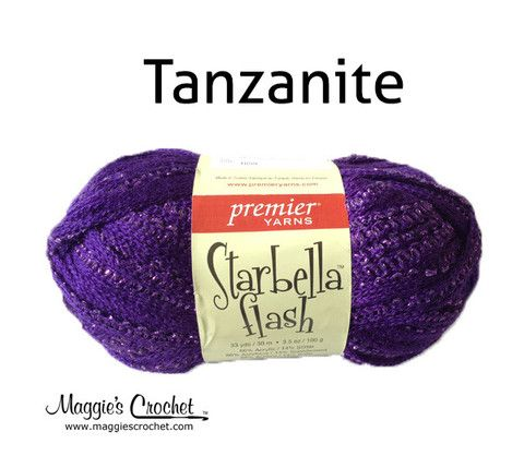 Starbella Flash Tanzanite Ruffled Yarn #sparkle #purple | Ruffled ...