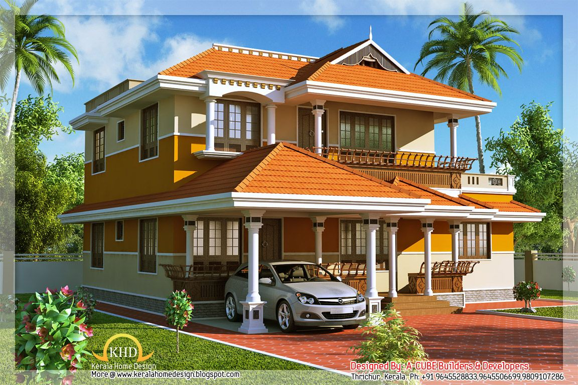 Kerala Style Duplex House 1900 Sq Ft Villas Kerala