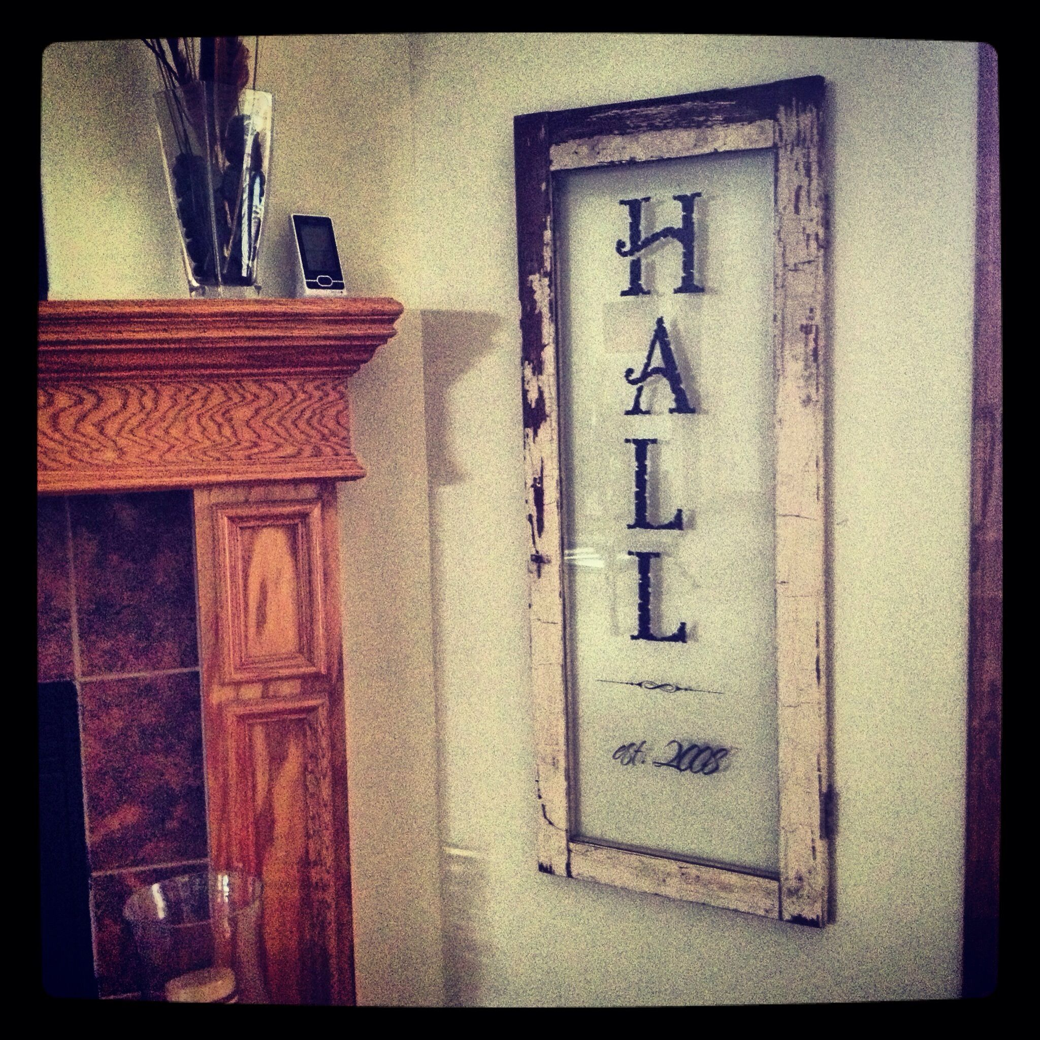 Old cabinet door repurposed last name signs pinterest other