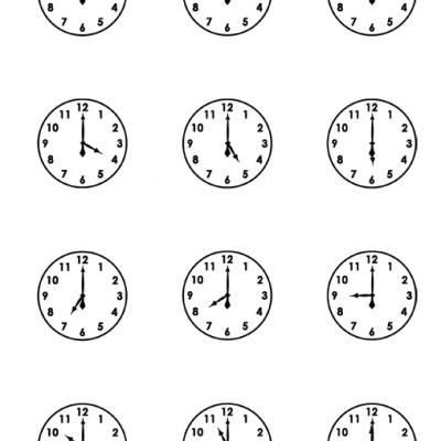 Printable clock faces worksheets Tutors Worksheets and more at – Printable Worksheet