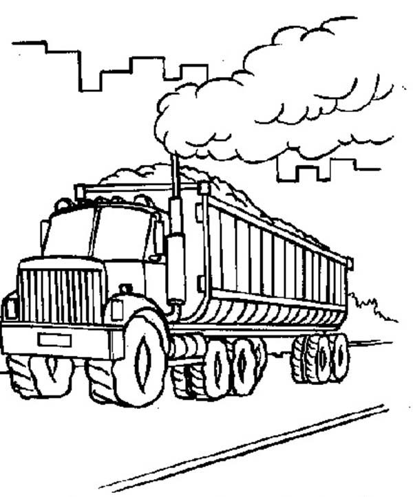 Factory Car Transporter Carrying Coal Coloring Pages Best Place To Color Coloring Pages Color Coloring Pages For Kids