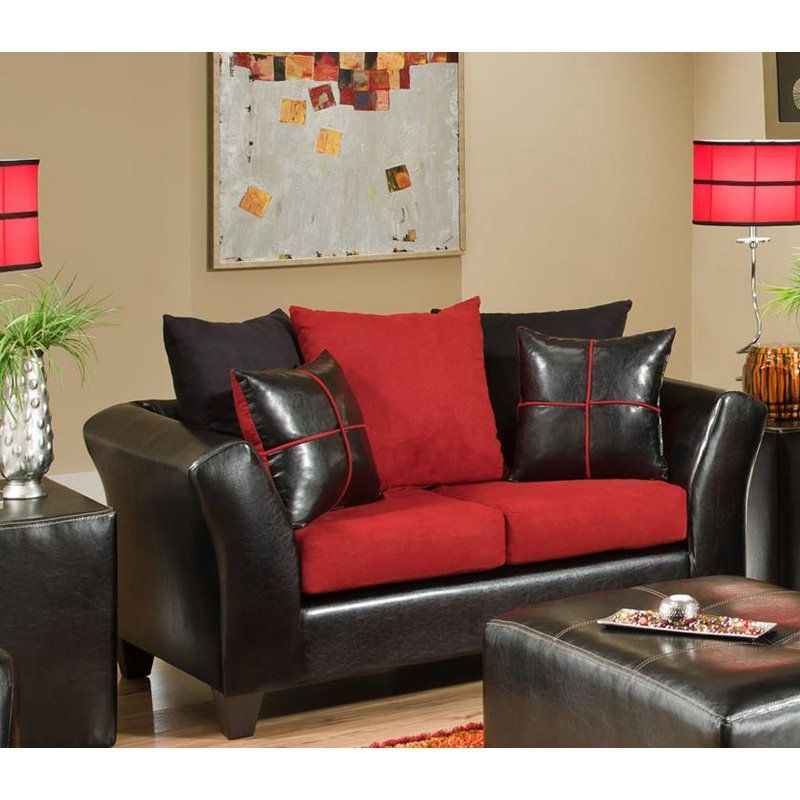 Chelsea Home Furniture Cira Loveseat Jefferso BlackVictory