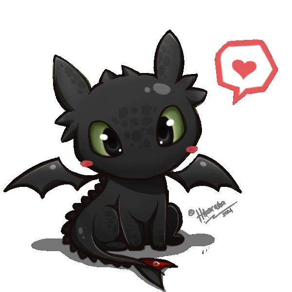 Toothless Chibi How To Train Your Dragon By Hikariuta