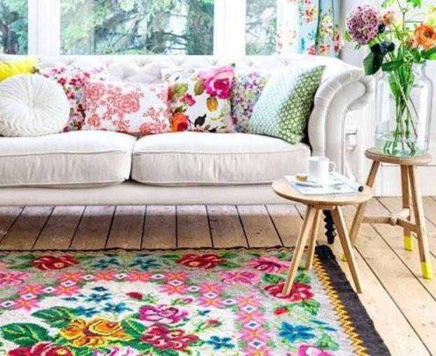 tapis de salon tapis kilim tapis fleur tapis boh me. Black Bedroom Furniture Sets. Home Design Ideas