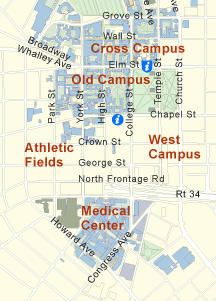map of yale campus Campus Map Yale University New Haven Ct 145 Elm St Is Visitor map of yale campus
