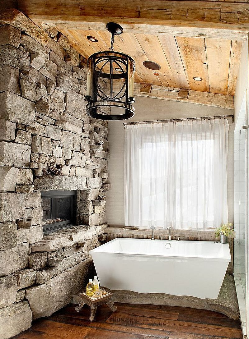30 Exquisite Inspired Bathrooms With Stone Walls Rustic