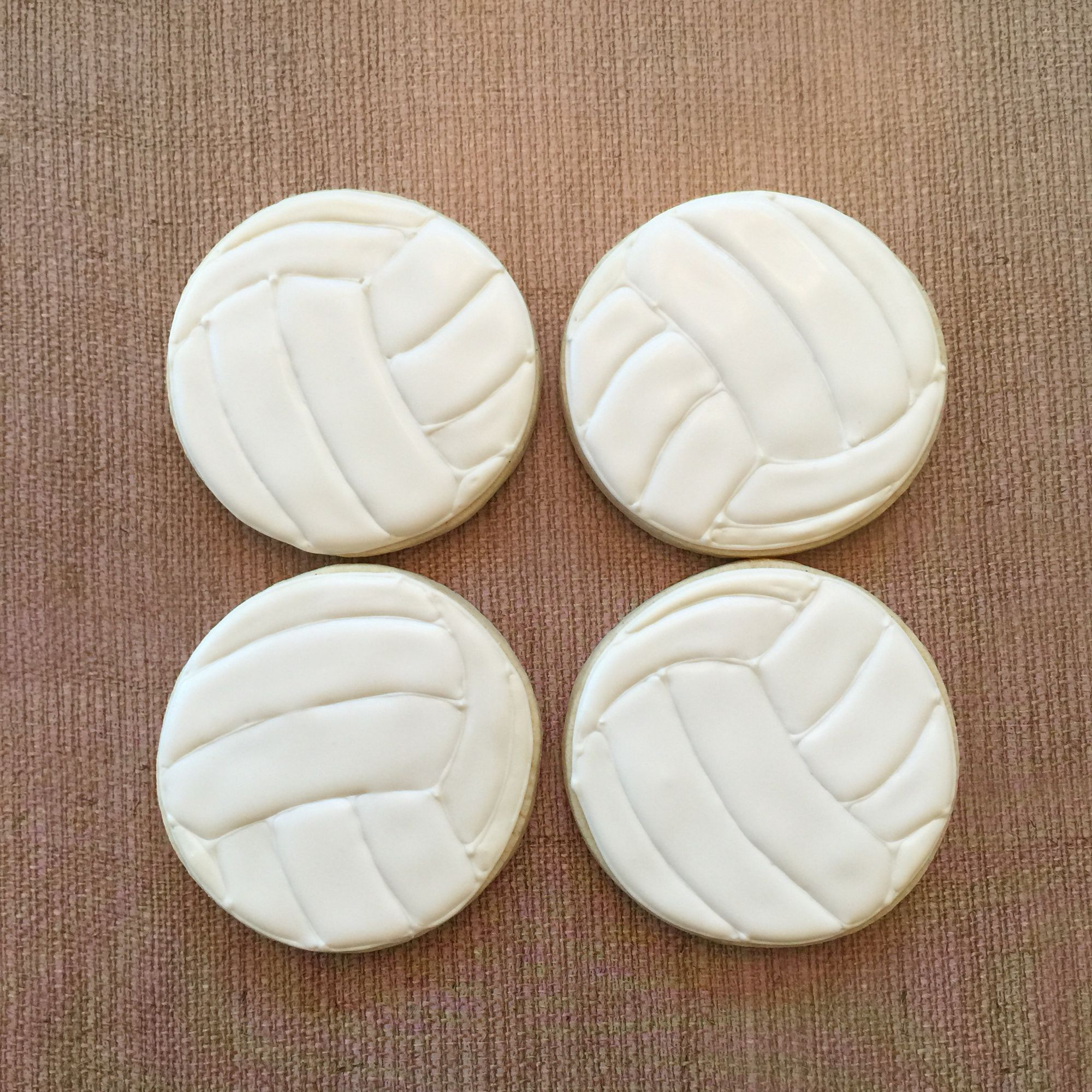 Volleyball cookies by Cami's Cookies of Austin, TX