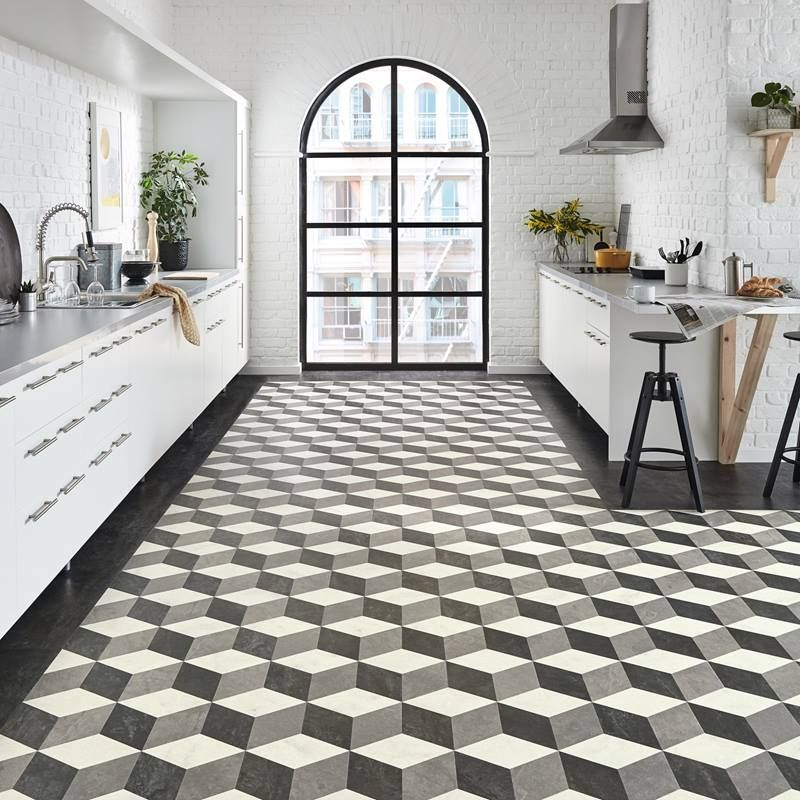 Karndean Cubix Flooring In The Kitchen Great Way To Add A Pattern