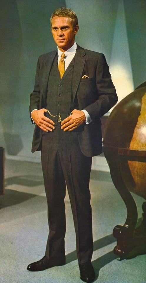 08b31dcacfd5 Steve McQueen as Thomas Crown in The Thomas Crown Affair (1968 ...