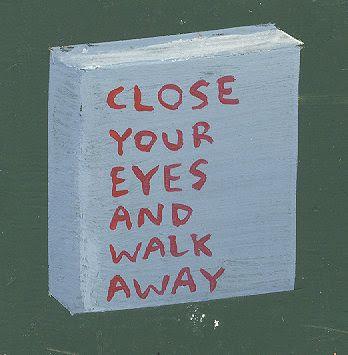 Feche seus olhos e andar por aí
