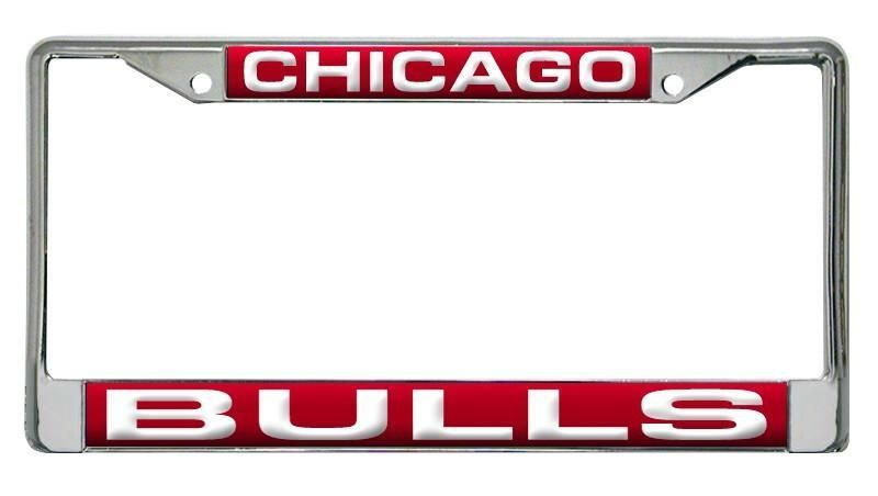 Chicago Bulls License Plate Frame Laser Cut Chrome | License plate ...