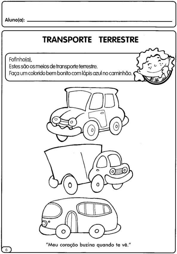 Na Sala De Aula Os Meios De Transportes Na Educacao Infantil
