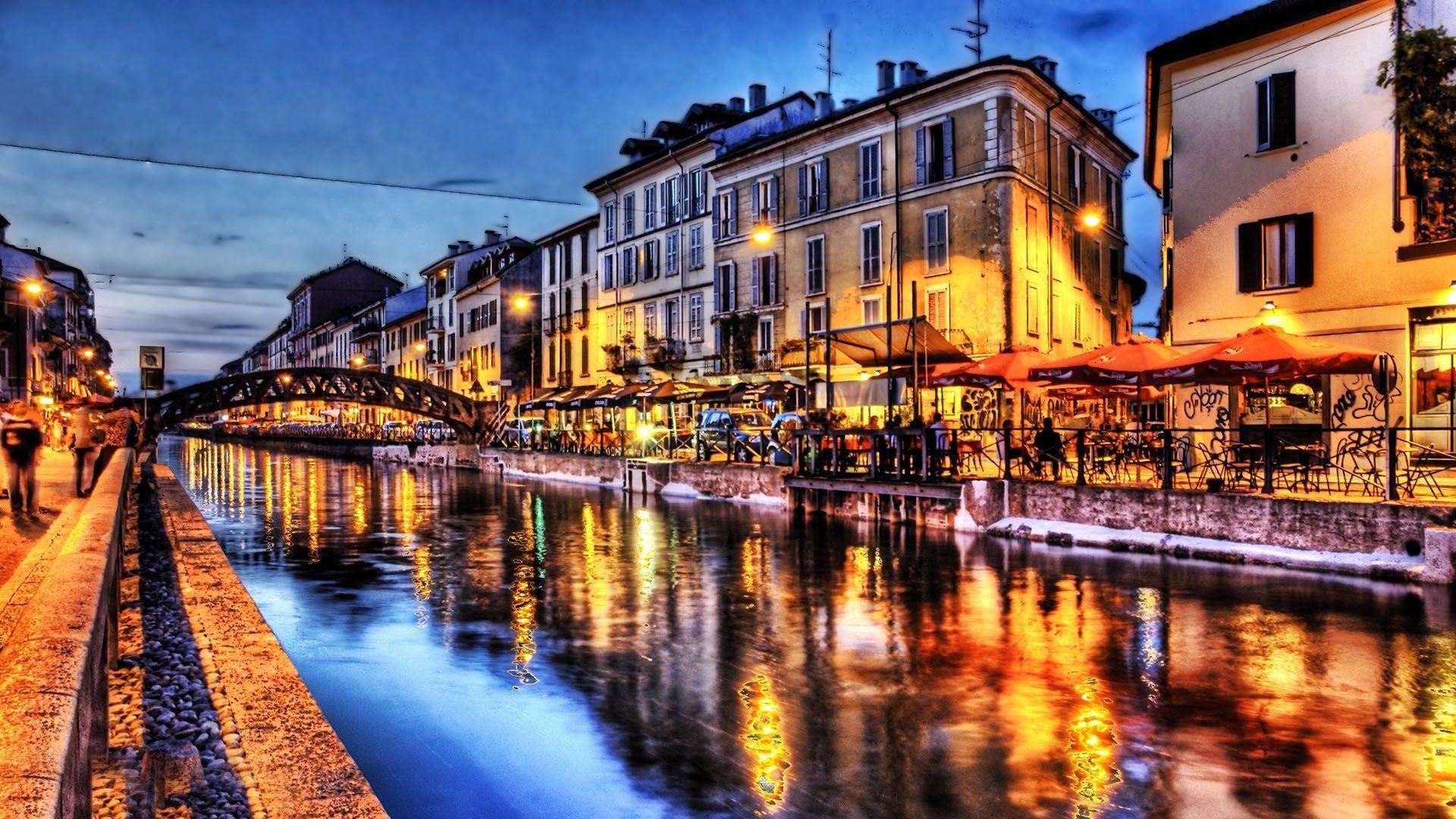 Venice italy at night venice at night wallpaper 304571 - Italy screensaver ...