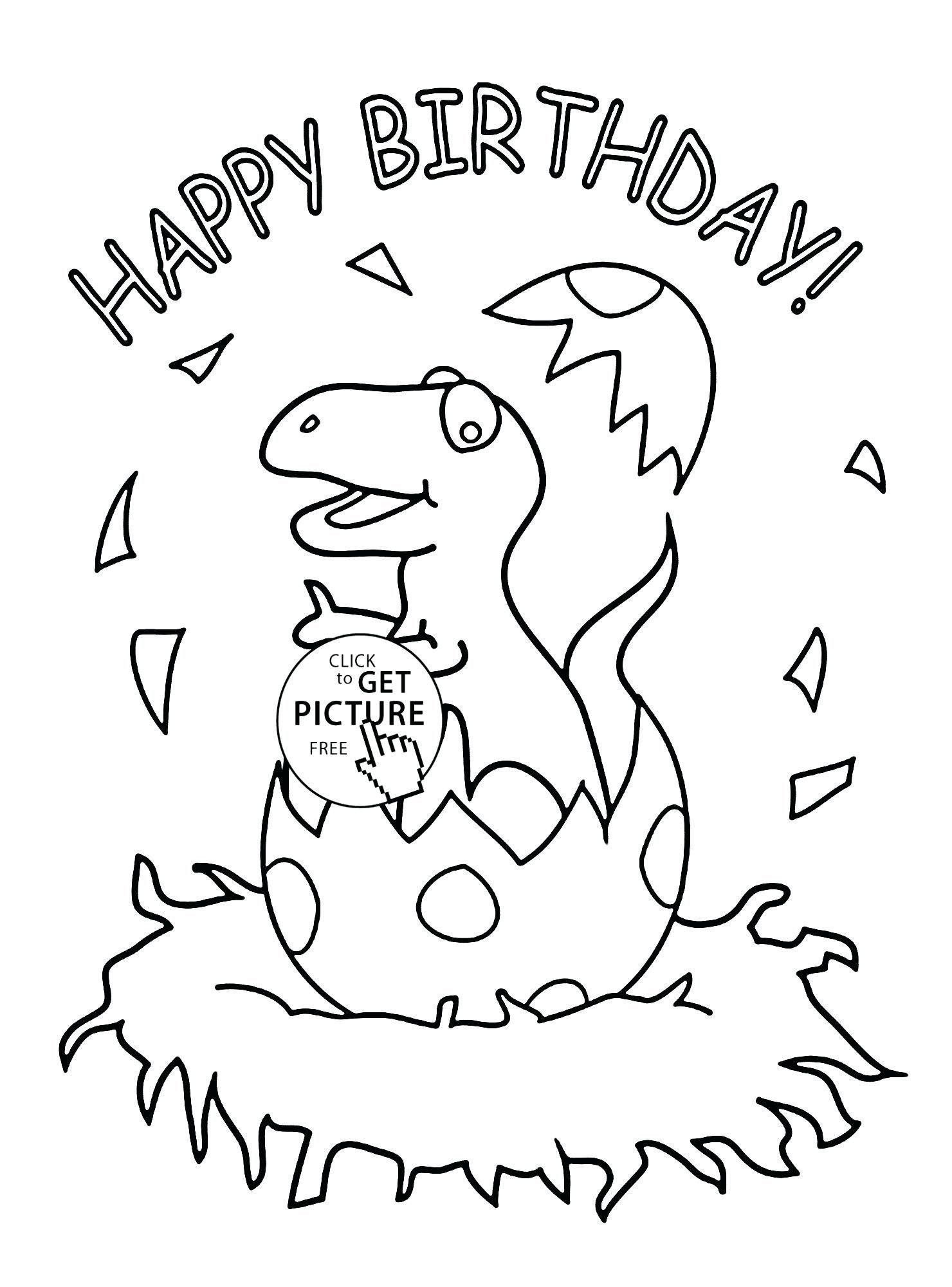 Printable Coloring Birthday Cards Fresh Birthday Cards ...